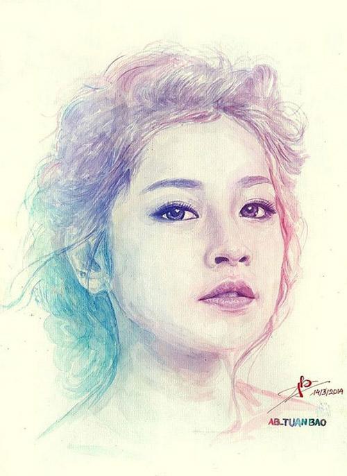 Nhan sắc hot girl Việt dưới nét vẽ của họa sỹ 9x - 2