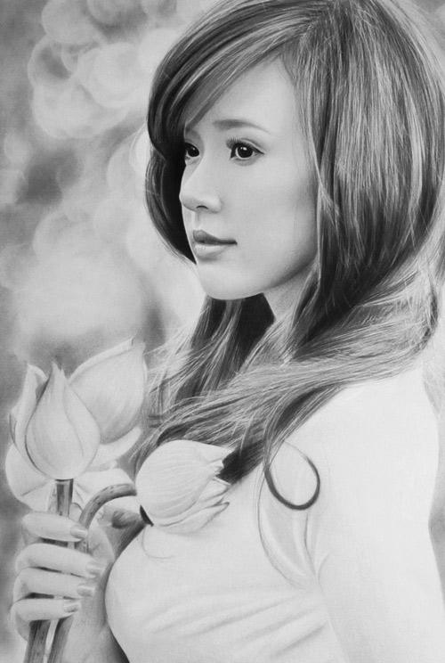 Nhan sắc hot girl Việt dưới nét vẽ của họa sỹ 9x - 3