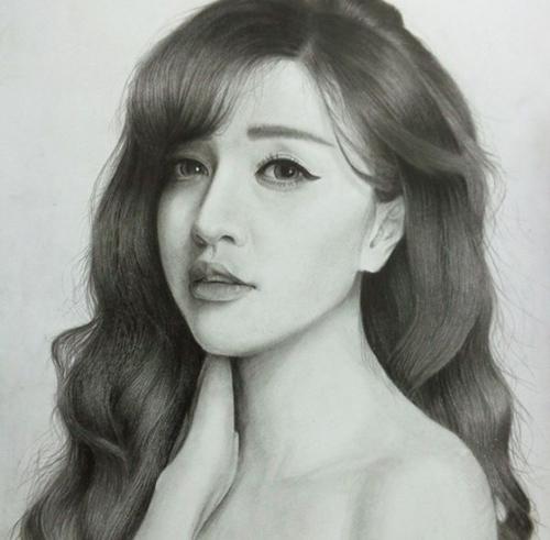 Nhan sắc hot girl Việt dưới nét vẽ của họa sỹ 9x - 11