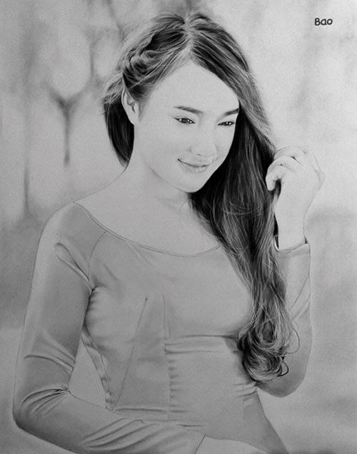 Nhan sắc hot girl Việt dưới nét vẽ của họa sỹ 9x - 9