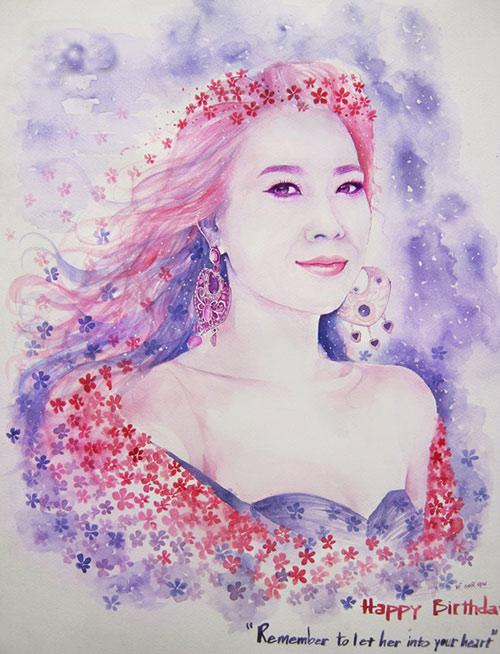 Nhan sắc hot girl Việt dưới nét vẽ của họa sỹ 9x - 14