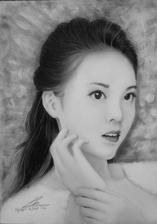 Nhan sắc hot girl Việt dưới nét vẽ của họa sỹ 9x - 10