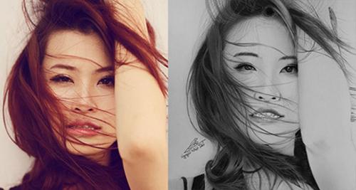 Nhan sắc hot girl Việt dưới nét vẽ của họa sỹ 9x - 13
