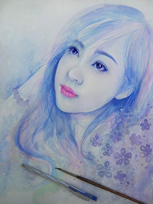 Nhan sắc hot girl Việt dưới nét vẽ của họa sỹ 9x - 15