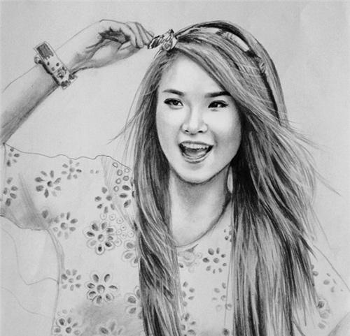 Nhan sắc hot girl Việt dưới nét vẽ của họa sỹ 9x - 16