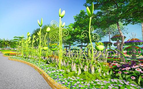Rực rỡ Đường hoa Tết 2015 giữa trung tâm Sài Gòn - 10