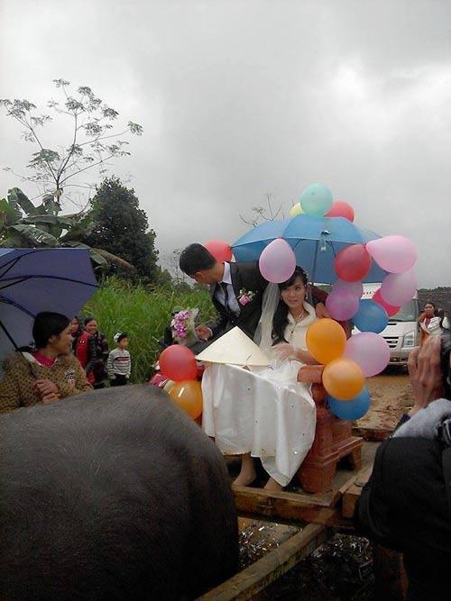 Rước dâu bằng xe trâu gây ấn tượng ở Nghệ An - 2