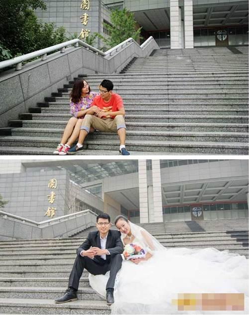Bộ ảnh cưới lãng mạn của cặp đôi học chung trường