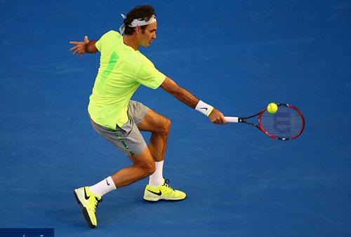 Hot shot: Federer, Nadal thi nhau lập ''siêu phẩm'' - 1