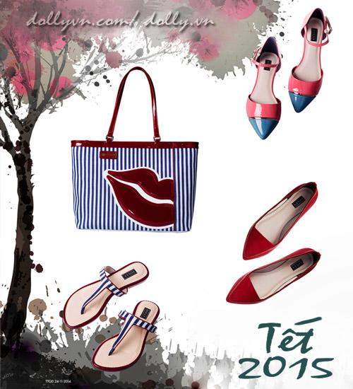 Giày, túi ấn tượng cho cô nàng rạng rỡ đón tết - 9