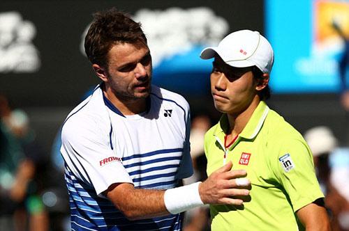 Hot shot: Rally 24 chạm, Nishikori tung vợt đỡ bóng - 1