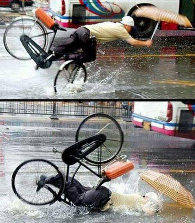 Những pha tai nạn xe đạp khó đỡ - 5