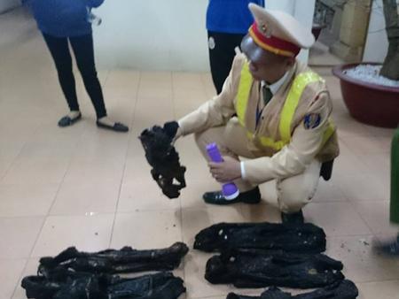 Phát hiện 20 xác linh trưởng sấy khô trên xe khách - 1
