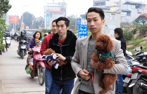 Hàng trăm bạn trẻ HN đưa chó, mèo đi khám bệnh miễn phí - 1