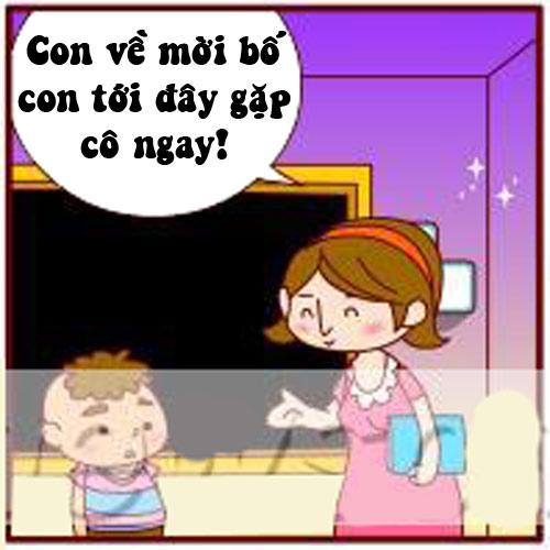 Truyện tranh: Khi cô giáo đòi gặp riêng bố - 1