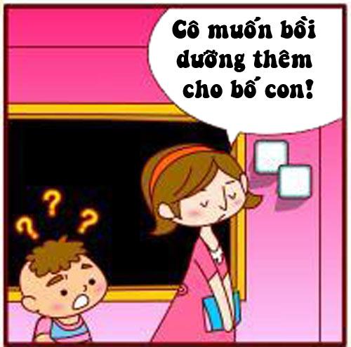 Truyện tranh: Khi cô giáo đòi gặp riêng bố - 3