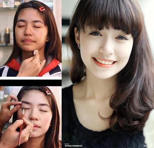 Hot girl Việt thay đổi thế nào khi thiếu vắng son phấn? - 5