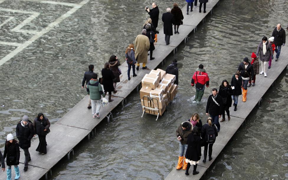 """Chùm ảnh: """"Thành phố tình yêu"""" Venice mùa nước nổi - 3"""