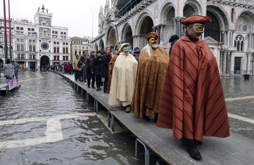 """Chùm ảnh: """"Thành phố tình yêu"""" Venice mùa nước nổi - 5"""