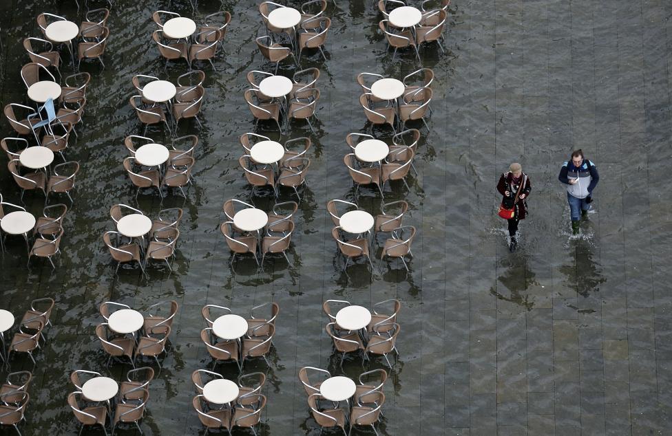 """Chùm ảnh: """"Thành phố tình yêu"""" Venice mùa nước nổi - 2"""