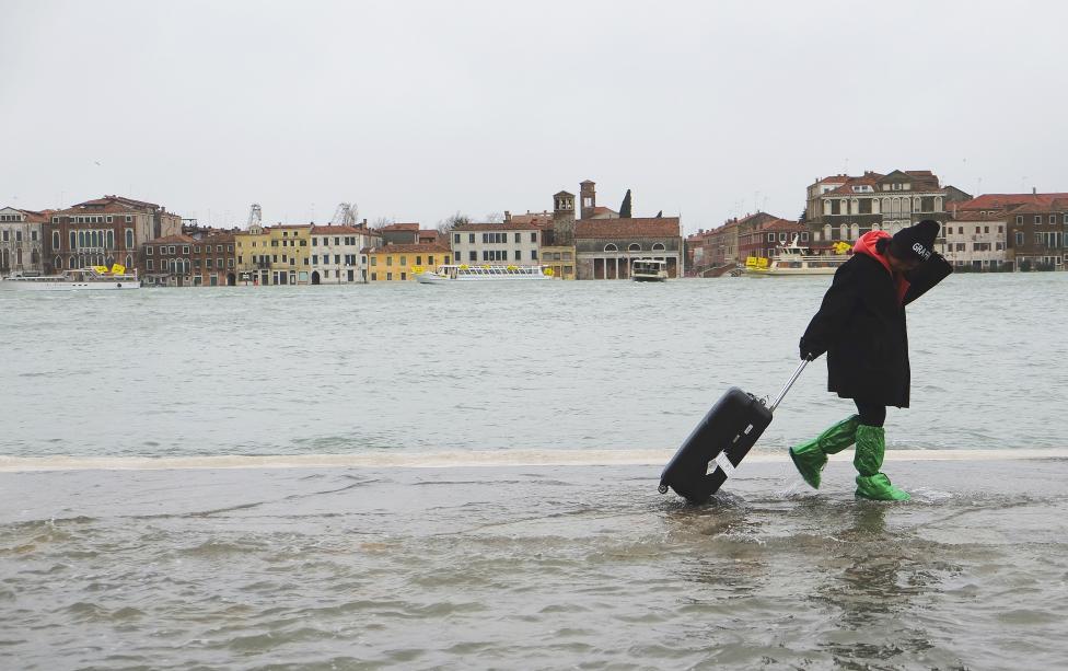 """Chùm ảnh: """"Thành phố tình yêu"""" Venice mùa nước nổi - 9"""