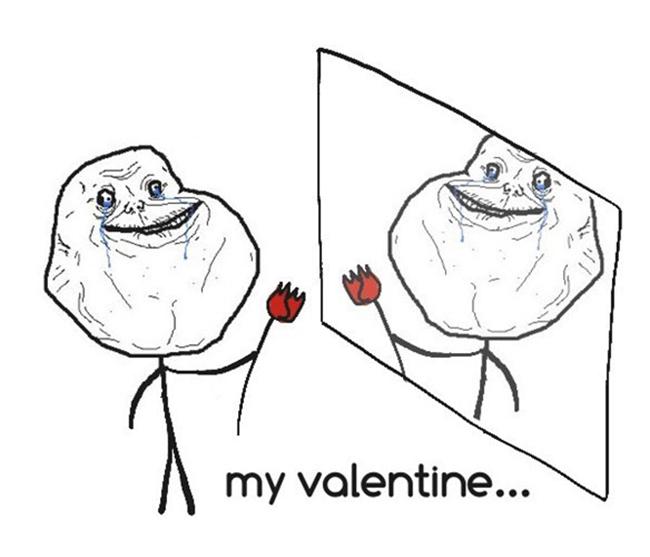 Ảnh chế Valentine hài hước dành cho dân FA - 9