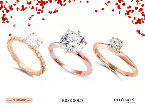 Vàng hồng – xu hướng trang sức mùa Valentine - 1