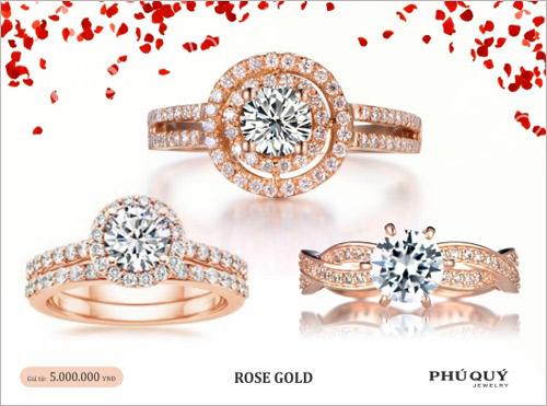 Vàng hồng – xu hướng trang sức mùa Valentine - 2