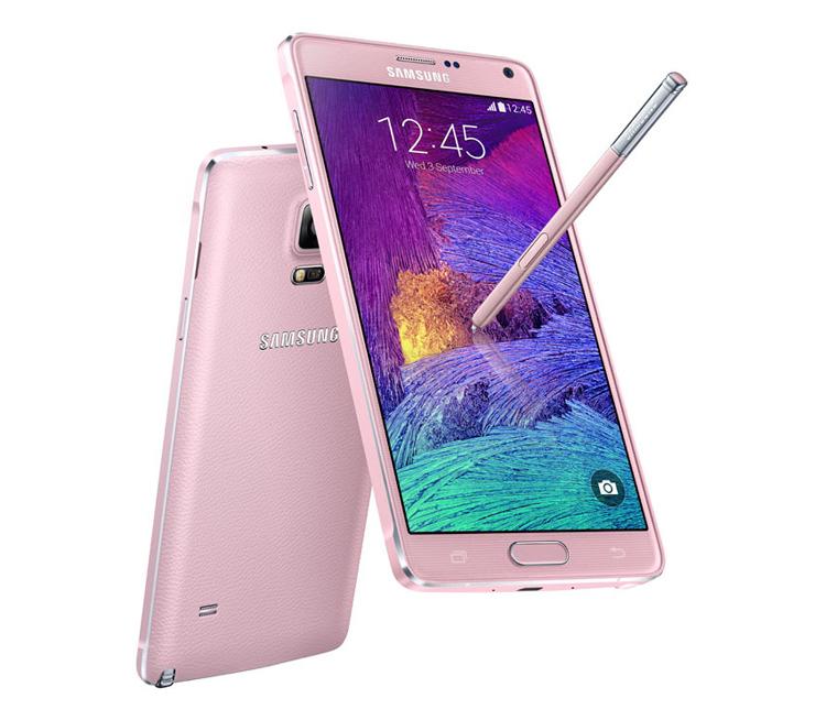 Samsung Galaxy Note 4    Galaxy Note 4 được xem là chiếc điện thoại thông minh tốt nhât của Samsung tính đến thời điểm hiện tại, nó có sẵn một phiên bản màu hồng tuyệt đẹp mà chúng tôi tin chắc người phụ nữ nào cũng yêu thích. Đây sẽ là món quà vô cùng thiết thực với cô bạn gái nếu hầu bao của bạn rủng rỉnh.