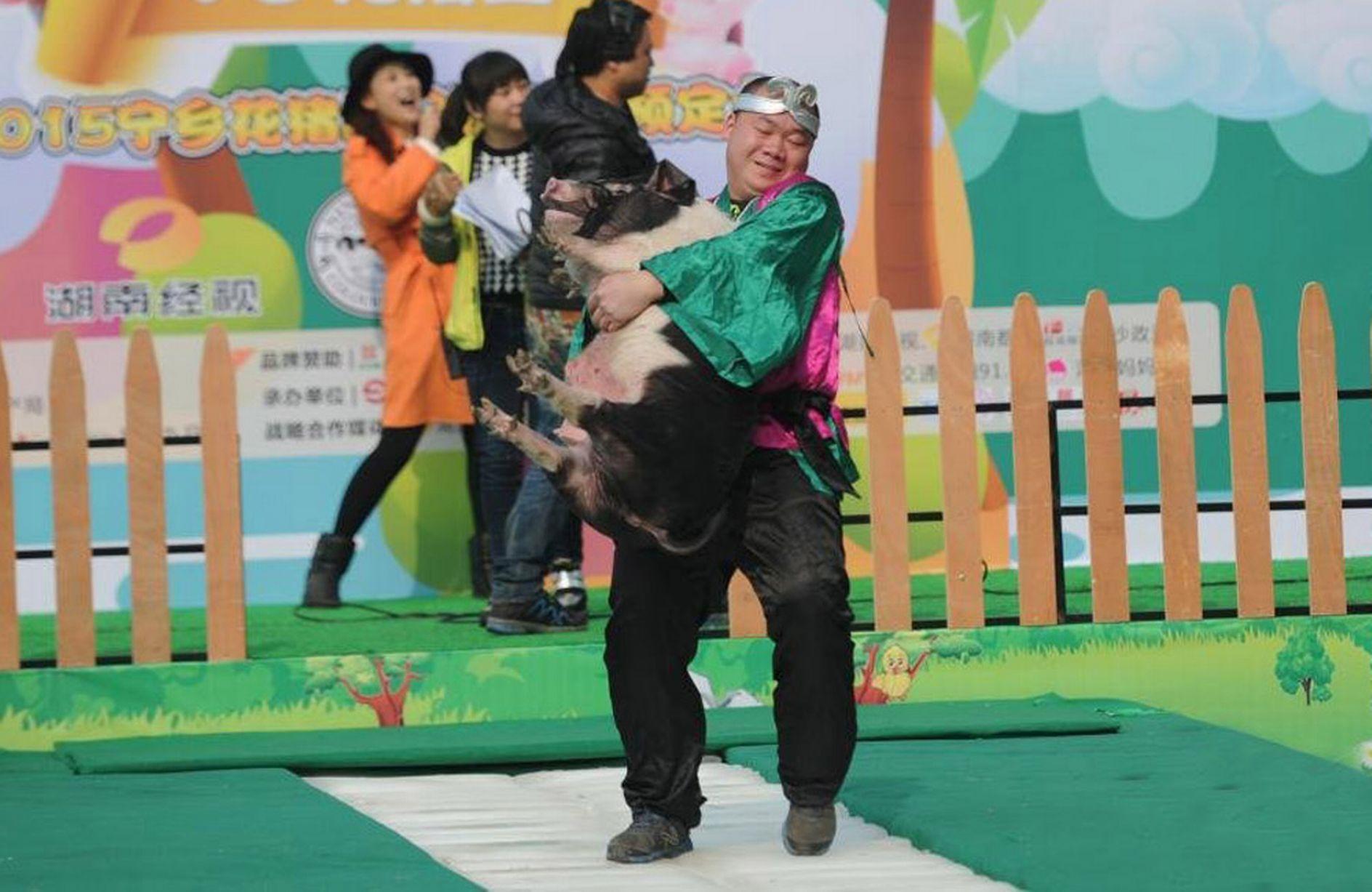 Trung Quốc: Thưởng Tết bằng... lợn - 1