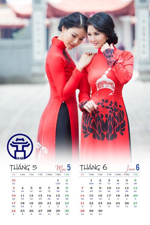 Hoa hậu Trần Thị Quỳnh đẹp dịu dàng trong ảnh lịch - 3