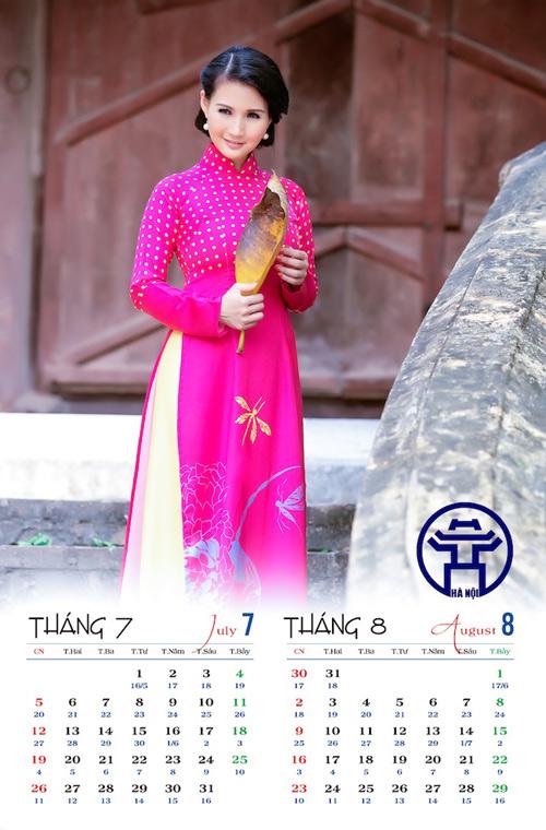 Hoa hậu Trần Thị Quỳnh đẹp dịu dàng trong ảnh lịch - 4