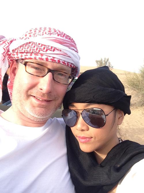 """Vợ chồng Đoan Trang trốn con đi """"trăng mật"""" ở Dubai - 2"""