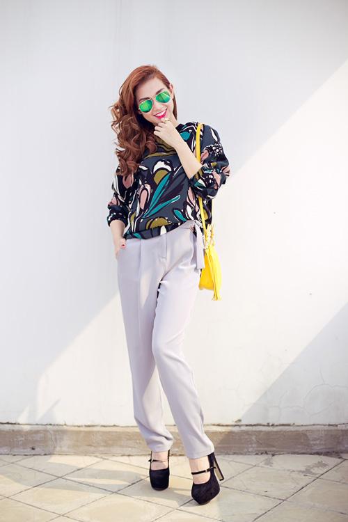 Cựu hot girl Quỳnh Chi nuột nà xuống phố - 1