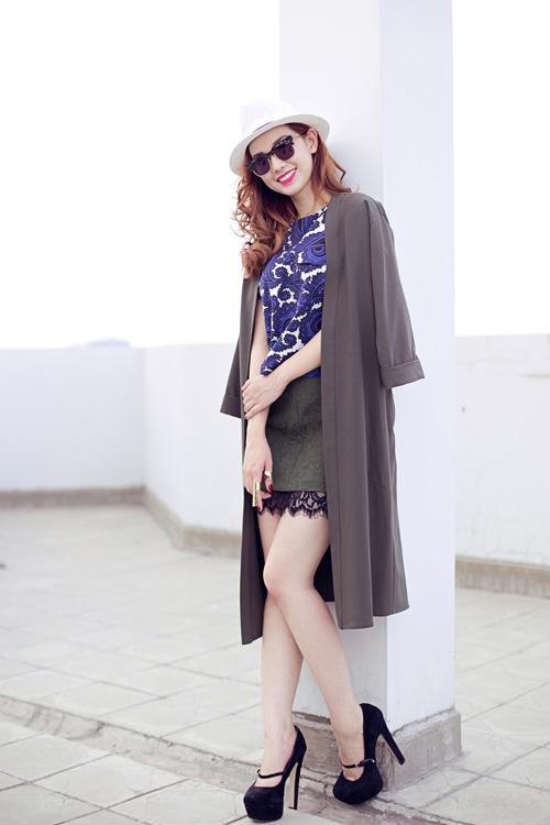 Cựu hot girl Quỳnh Chi nuột nà xuống phố - 6