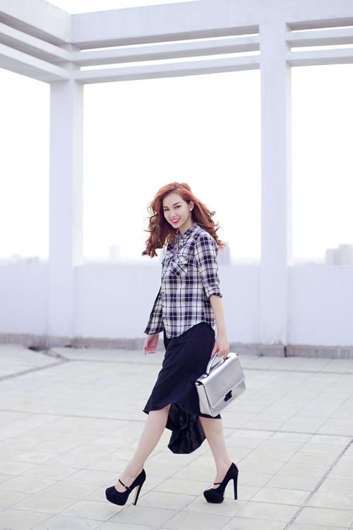 Cựu hot girl Quỳnh Chi nuột nà xuống phố - 11