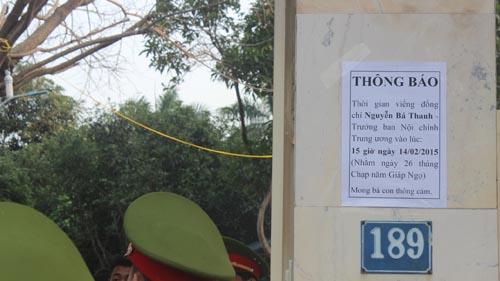 Hàng trăm người chờ viếng ông Bá Thanh trong đêm - 1