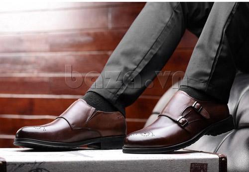 Tạo phong cách lịch lãm với giầy nam công sở Baza - 2
