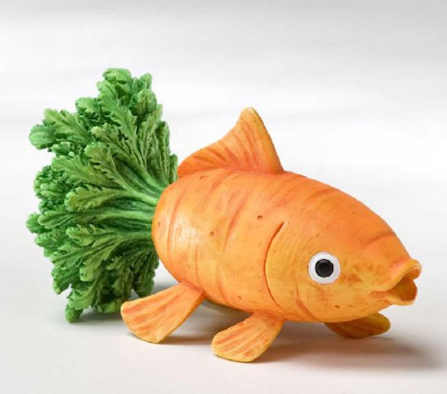Những tạo hình độc đáo của rau củ quả - 1