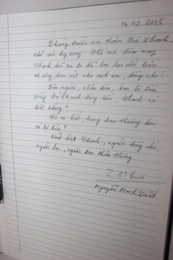 Vĩnh biệt ông Bá Thanh: 'Có ai biết, trong đau thương lại có tự hào' - 3