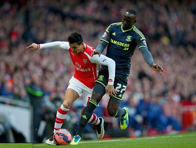 TRỰC TIẾP Arsenal - Middlesbrough: Thế trận nhàn nhã (KT) - 3