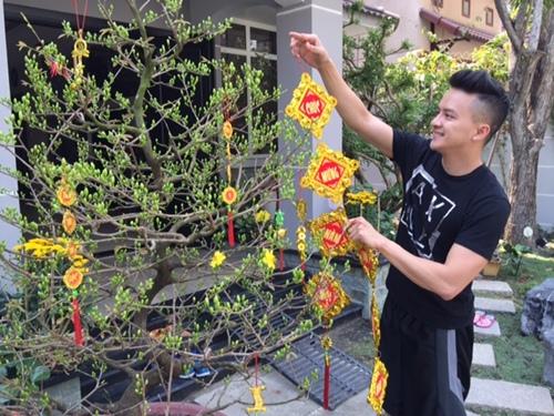 Cao Thái Sơn trang trí biệt thự mới đón Tết - 1