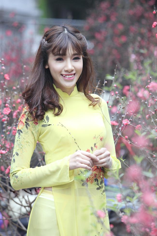 Tết năm nay Hà Min dành nhiều thời gian cho gia đình