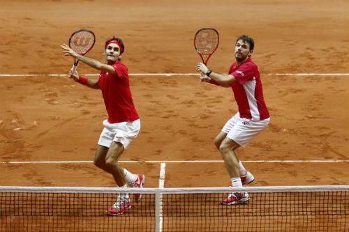 """Những hình ảnh ấn tượng nhất 2014: Federer & Wawrinka """"song kiếm hợp bích"""" (P3) - 2"""