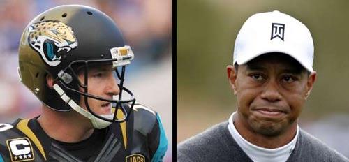 Golf 24/7: SAO bóng bầu dục thách đấu Tiger Woods - 1