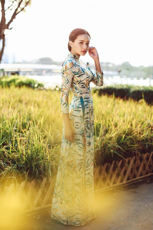 Phan Như Thảo đẹp nao lòng trong tà áo dài nền nã - 2