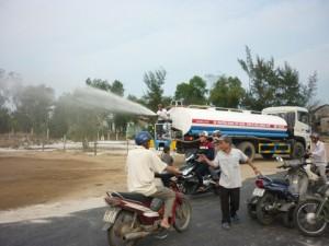 Làm đường vào nơi an táng ông Bá Thanh trong 2 ngày