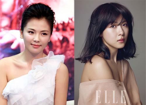 """Cùng sinh năm 1978, """"nàng A Châu"""" Lưu Đào và """"Hoàng hậu Ki"""" Ha Ji Won trông đều rất trẻ trung và xinh đẹp."""