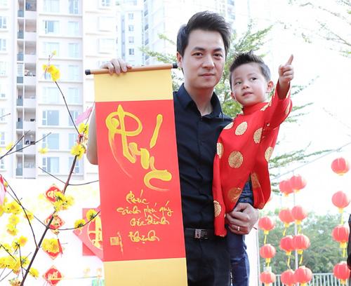 Gia đình Đăng Khôi đi chơi Xuân, xin chữ đầu năm - 5
