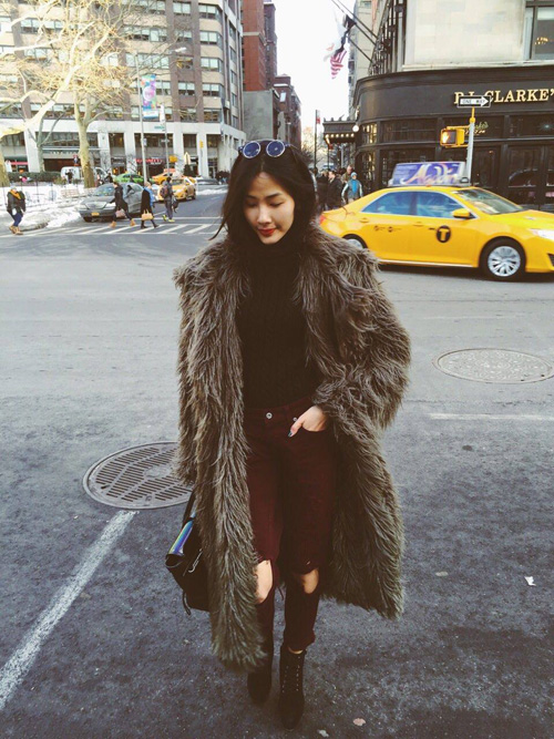 Hoàng Thùy lọt top thời trang phố ấn tượng ở New York - 2